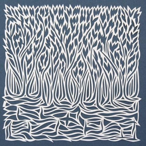 Waterline 2, White Papercut