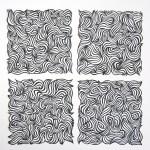 Swirl 2,3,4,5, Black Papercuts