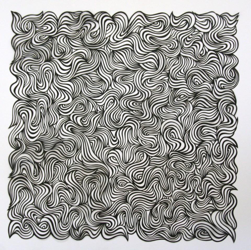 Swirl, Black Papercut