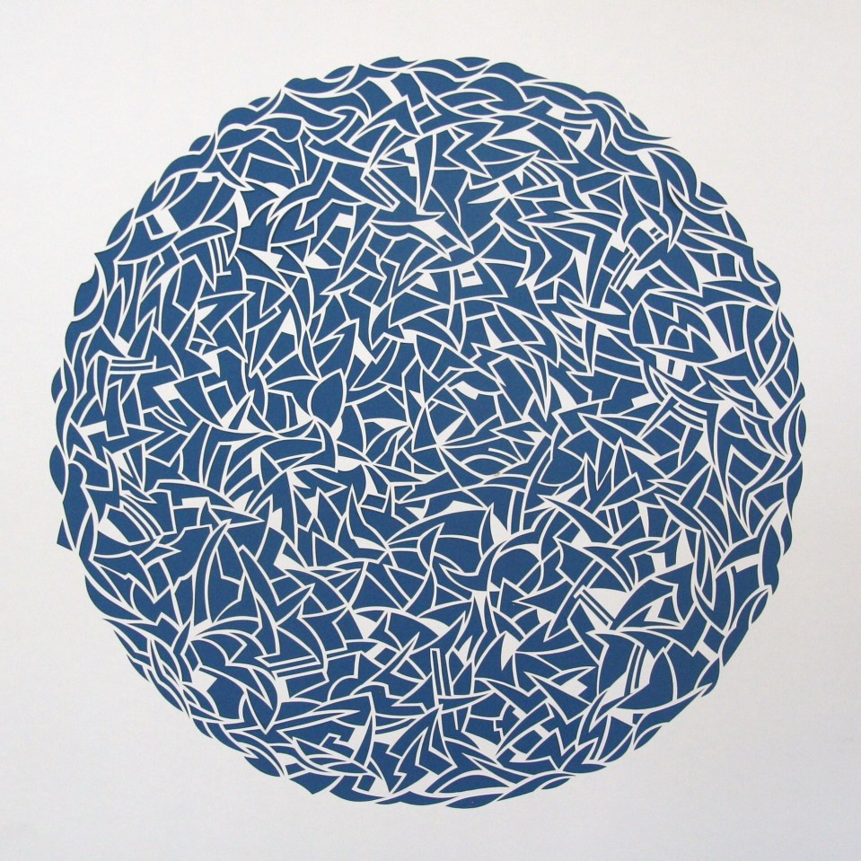 Sphere, White Papercut