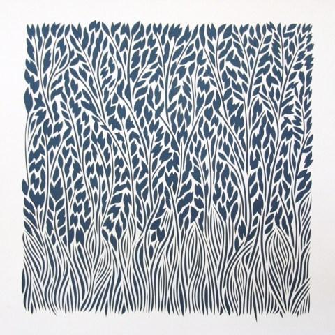 The Field 2, White Papercut