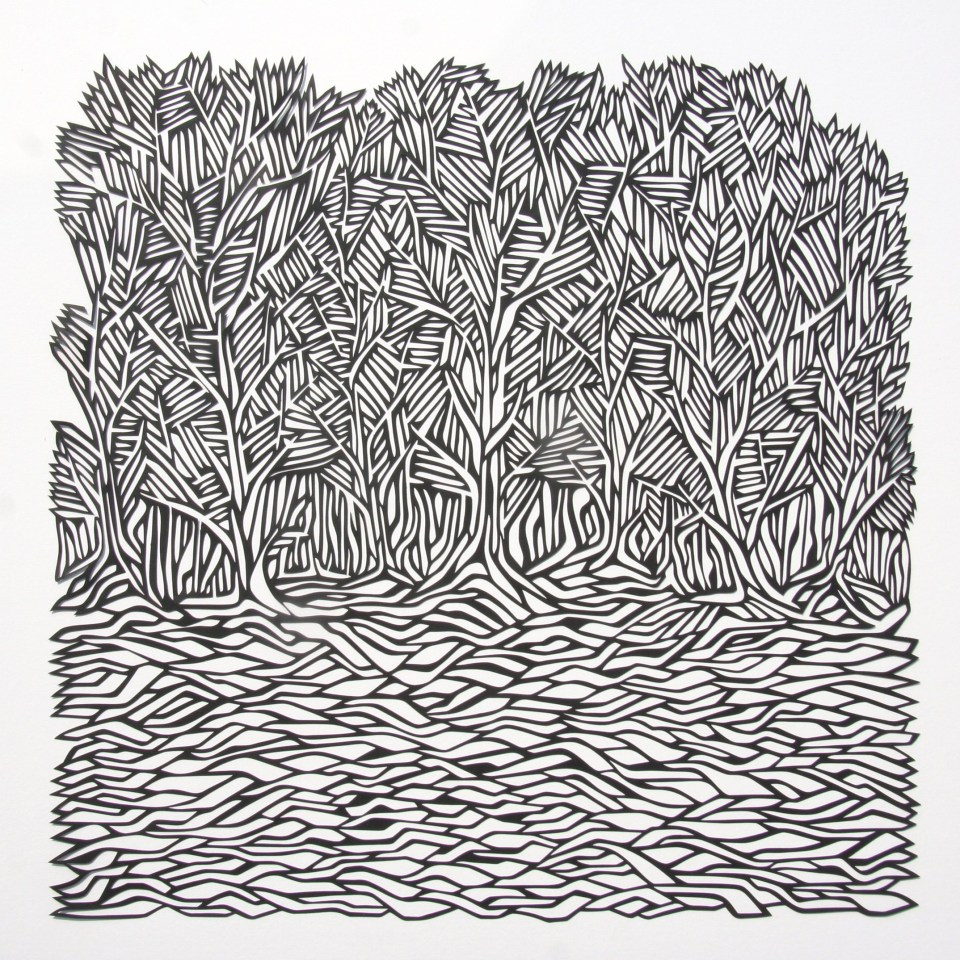Woods, Black Papercut