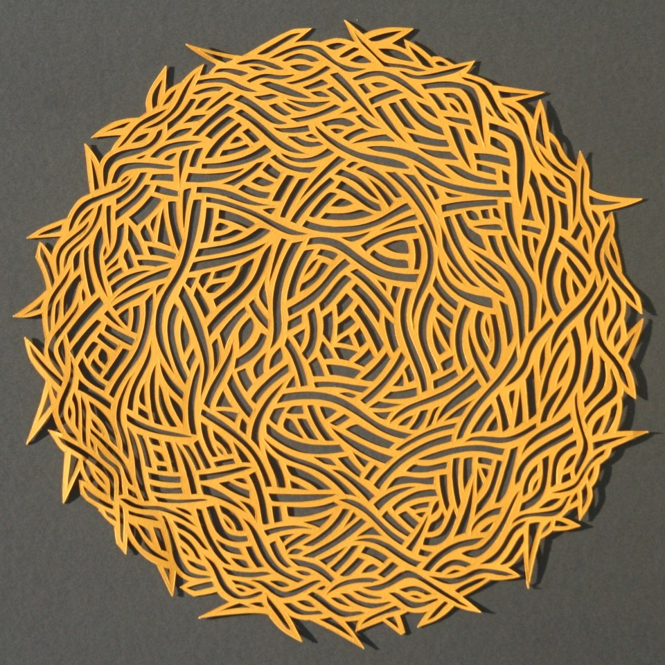 Small Yellow Nest, Papercut