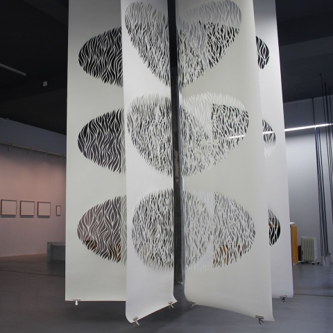 Resonance, White Papercut, 6x320cmx100cm, The Pattern Exchange, Temple Bar Gallery, 2015
