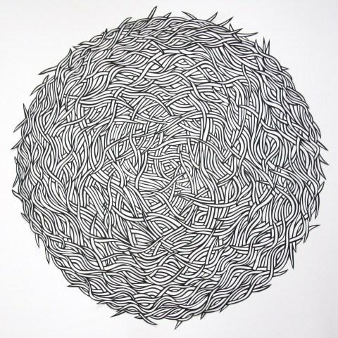 Nest, Black Papercut