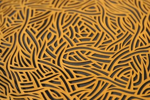 Small Yellow Nest, Papercut Detail