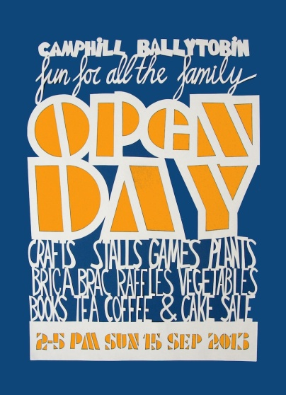 Ballytobin Open Day Papercut Poster 2013
