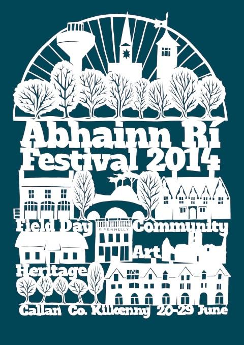 Abhainn Rí Festival Papercut Poster 2014