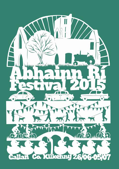 Abhainn Rí Festival 2015 Papercut Poster