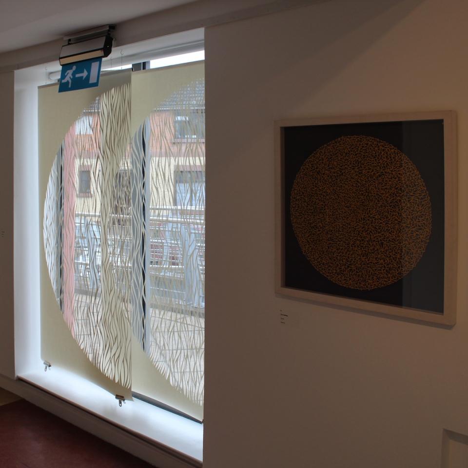 Overlap, Papercut Installation, 200x180cm, Riverbank Arts Centre, Newbridge, 2018